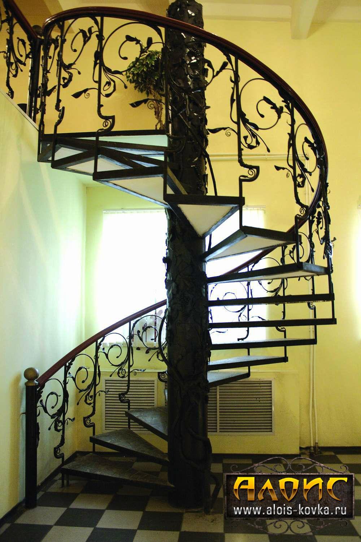 Кованые винтовые лестницы фото