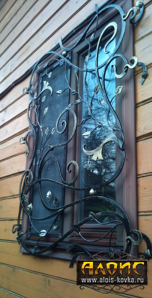 Дизайнерские кованые решетки на окна от производителя