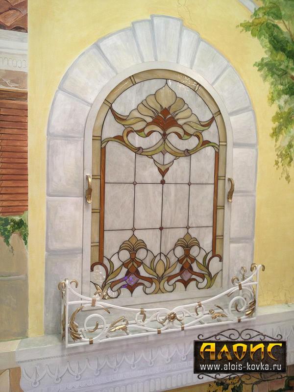 Кованые решетки на окна для цветов