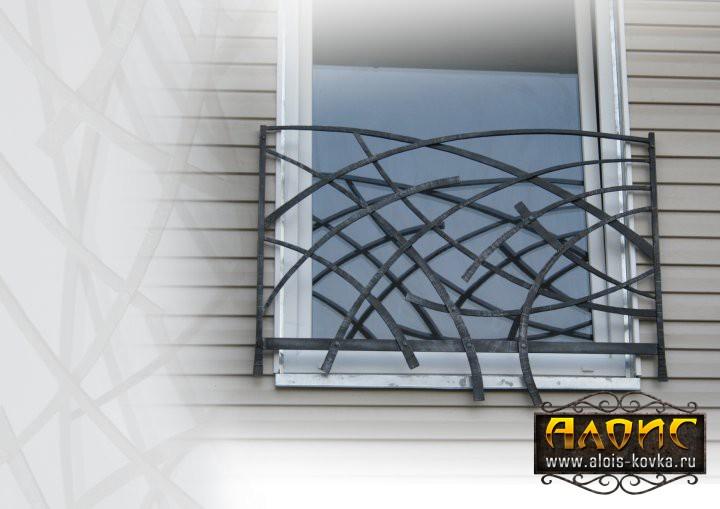 Дизайнерские решетки на окна кованные на заказ