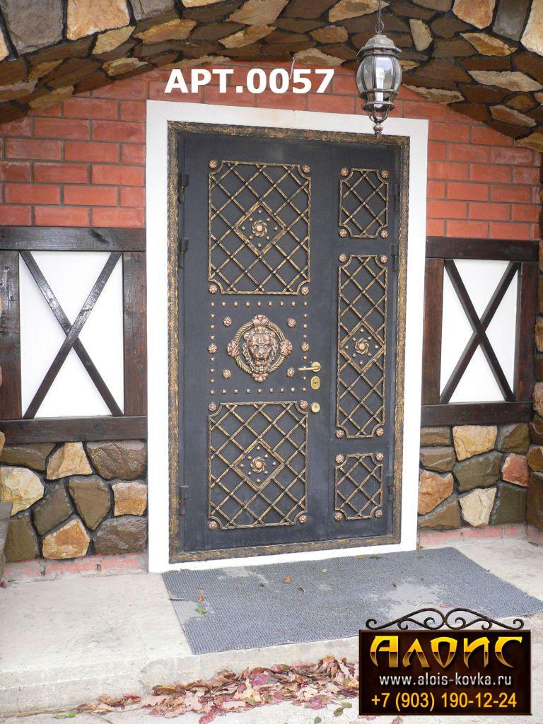 Элитные двери с ковкой